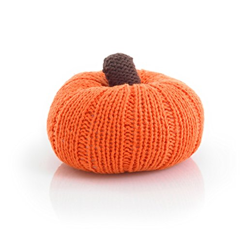 Pebble knitted vegetable rattle - -