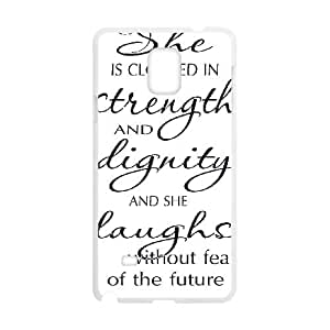 Strength And Dignity Samsung Galaxy Note 4 Cell Phone Case White P6684219