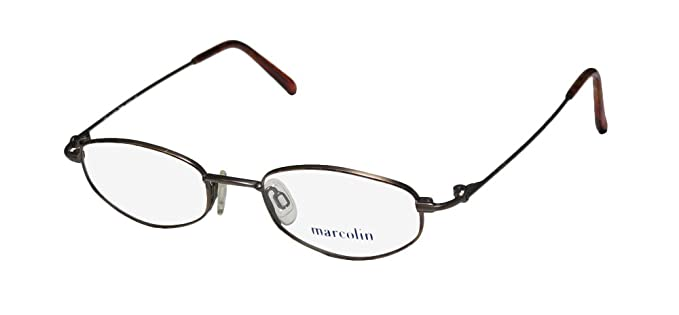 de5328e6432b Marcolin 2029 Mens Womens Designer Full-Rim Shape Titanium Light Style  Classy Hip Eyeglasses