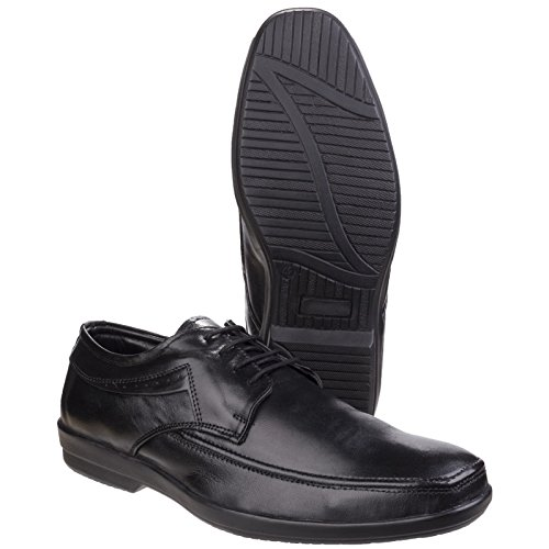Apron Up Shoes Fleetamp; Foster Mens Formal Comfy Toe Oxford Black Dave Lace cLq53Aj4RS