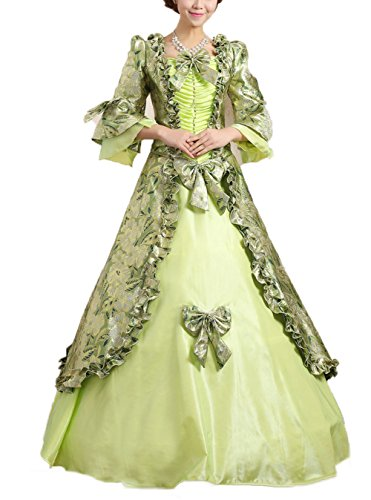 Girl Costumes Aristocratic (SHOLIND Aristocratic Elegant Dress Middle-age Princess European Queen Princess Costume (Free Size:Bust:83 - 90 cm,)