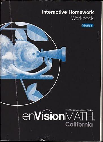 EnVisionMATH Interactive Homework Workbook Grade 4