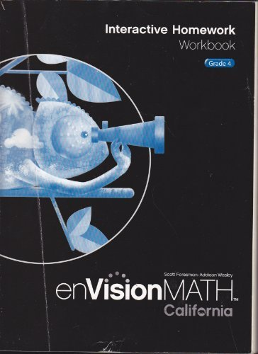 enVisionMATH Interactive Homework Workbook, Grade 4 CALIFORNIA ...