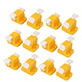 Uxcell a16012000ux0037 PCB Board Prototype Test Fixture Jig Latches Yellow White 12 Piece, 1.34