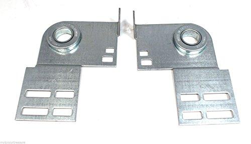Garage Door End Bearing Plates (Pair) by Liftmaster, Craftsman, Linear