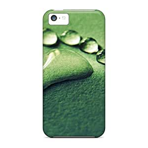 Awesome Rain Drops Flip Case With Fashion Design For Iphone 4/4S Cover