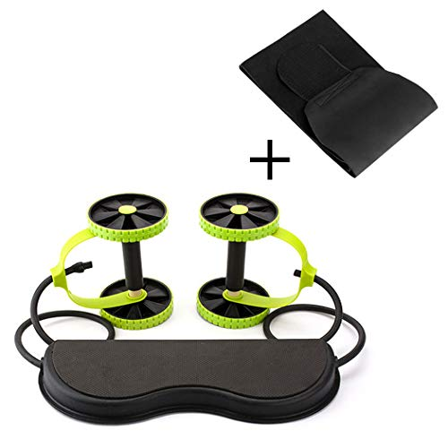 (Aurora Originals Ab Roller Power Core Exercise Trainer + Body Fitness Abdominal Sauna Belt)