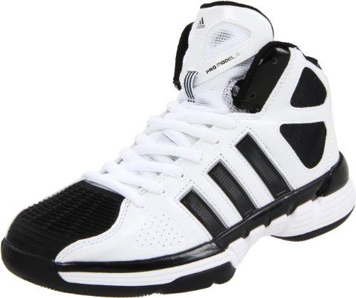 adidas Women's Pro Model Zero W Basketball Shoe,Running White/Black/Metallic Silver,8.5 M US