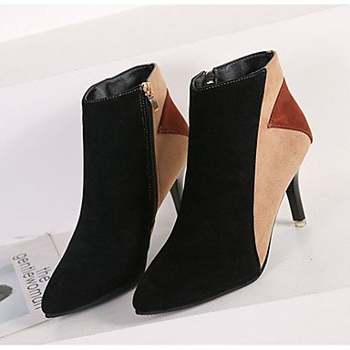 EU35 Khaki For Heel Boots Calf Boots Shoes Boots Toe US5 Women's RTRY Suede Stiletto Comfort Mid UK3 leather CN34 PU Nubuck Casual Fall Fashion Pointed Zipper 1gawH7