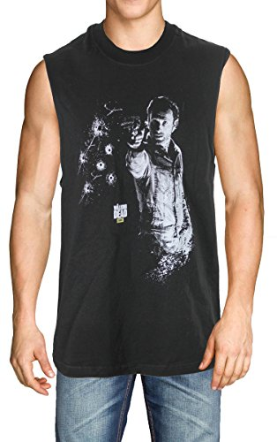 Walking Dead Rick Grimes Bullets Adult Shirt (Large)