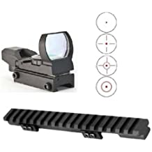 Ultimate Arms Gear Ruger Ranch Rifle .223 7.62 Mini-14 Mini-30 PC-9 PC-4 Carbine Rail Mount + CQB 4 Reticle Red Open Reflex Sight with Weaver-Picatinny Rail Mount