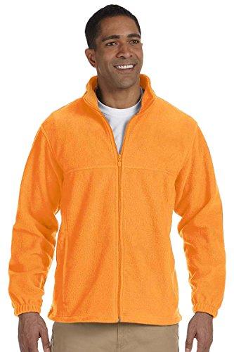 Harriton Mens Full Zip Fleece (Harriton Men's Full Zip Midweight Fleece Pullover, SAFETY ORANGE, XX-Large)