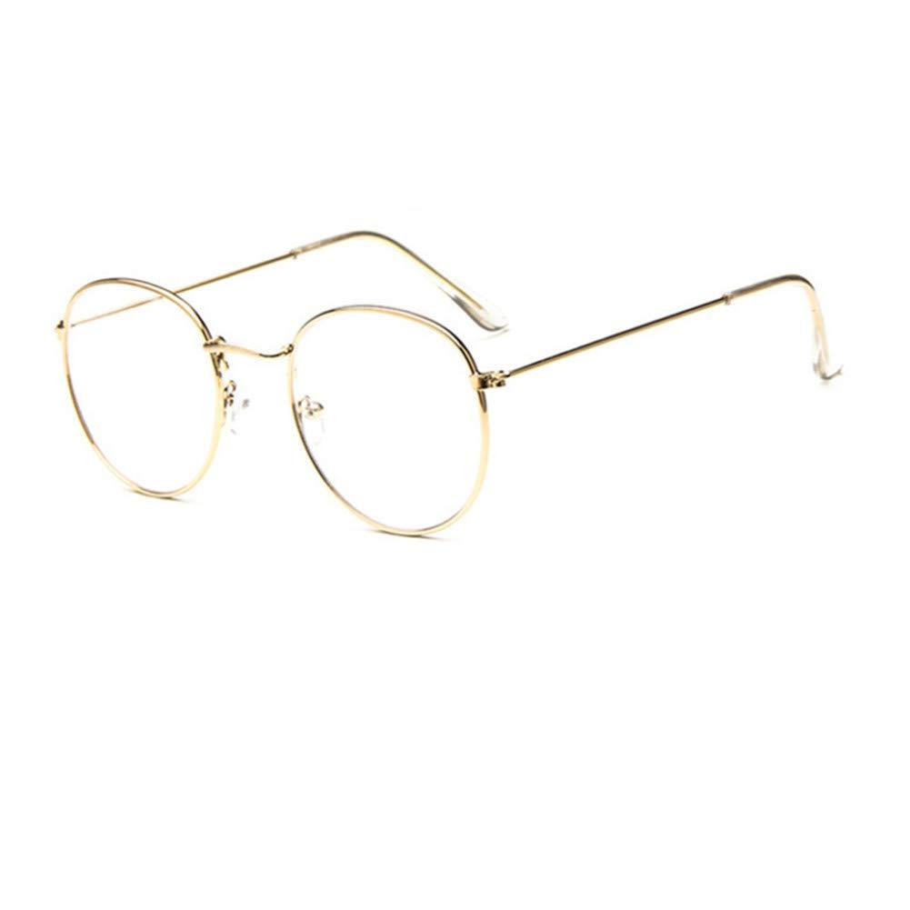 YUNCAT Monture de Lunettes r é tro Ronde Cadre Transparent lentille pour  Homme et Femme d4a5205999be