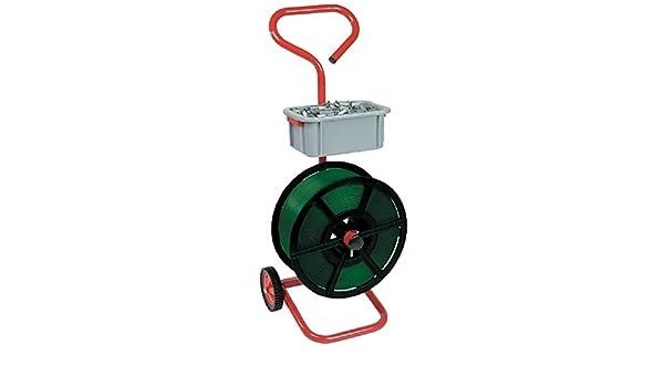 Heavy Duty Metal fuerte móvil carro soporte con ruedas para flejado bandas eshisha palet + accesorio desprendibles cubo para herramientas/Etc sellos: ...