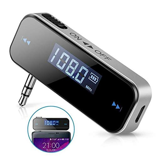 Value-Trade-Inc - 1pc Mini 3.5 Mm Wireless Car Radio Audio FM Transmitter HandsFree Modulator Transmissor LCD Displayer With Cable