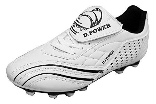 D Flexible athletische Fußball-Stollen der Männer Weiß schwarz