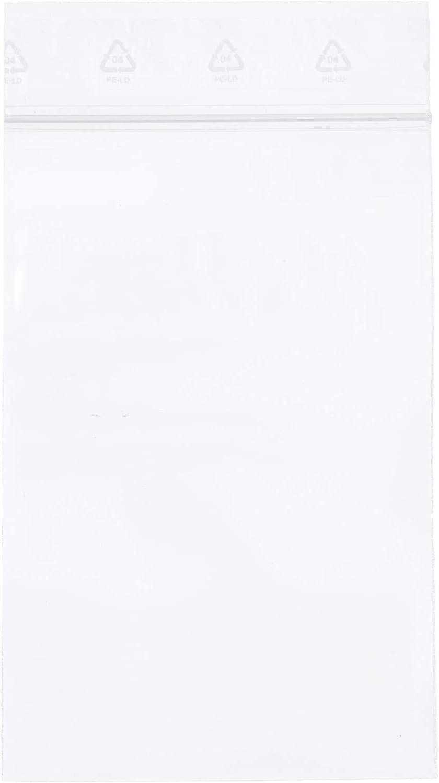 Zip-Beutel transparent Dicke 50 Mikron Gr/ö/ßen w/ählbar 100 St/ück 50 mm x 70 mm