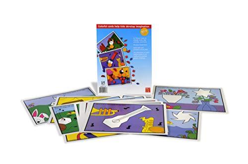 (American Educational SR-1171 Pattern Block Picture Cards Set, Set B (24 Piece Set))