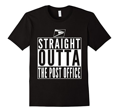 Mens Straight Outta The Post Office Postal Service Funny T Shirt Xl Black