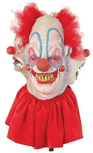 Insane Person Halloween Costume (Clowning Around Insane Evil Clown Scary Latex Adult Halloween Costume Mask)