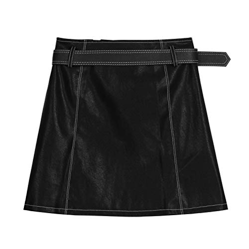 Alta De Falda Cintura Pu line Negra Cuero A Nocturno Mini Sexy Traje Lápiz Club Xcxdx 4qFxpwPTtn