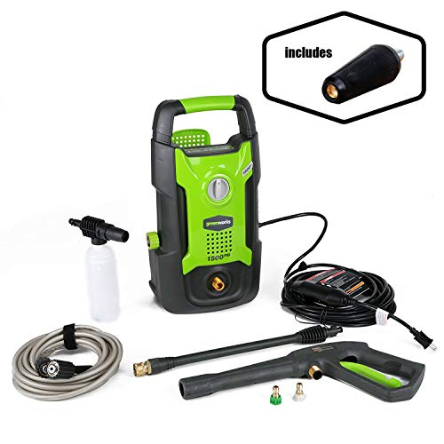 GreenWorks 1500 PSI 1.2 GPM Pressure Washer + Brass Turbo Nozzle