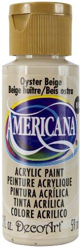 2 Ounce Oyster (DecoArt Americana Acrylic Paint, 2-Ounce, Oyster Beige)