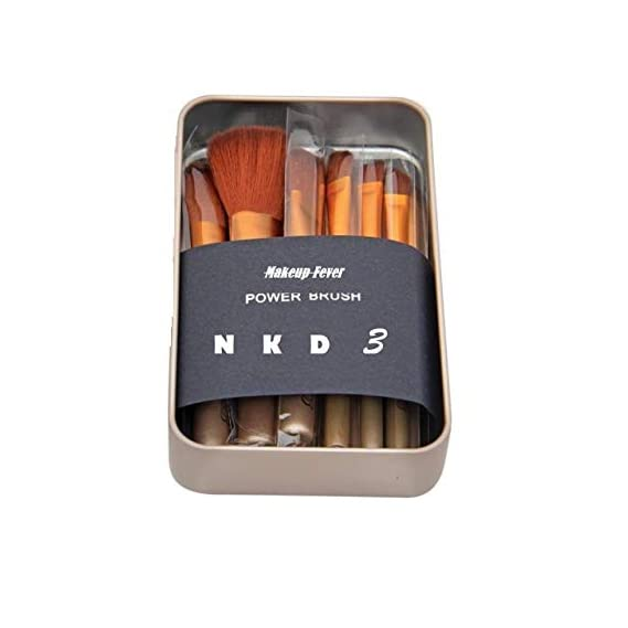 Professional Makeup Brush NKD 3 set of 12 Brown With Strong Storage Box