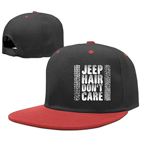 RGFJJE Gorras béisbol Baseball Cap Hip Hop Hat Jeep Hair Dont Care Boy-Girl