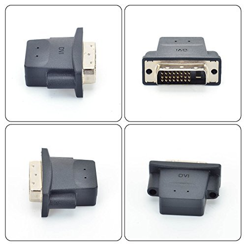 FREEGENE DVI Graphics Card Display GPU Detection Monitor DVI-D Dummy Plug Adapter 4K@60Hz, 3 Pack