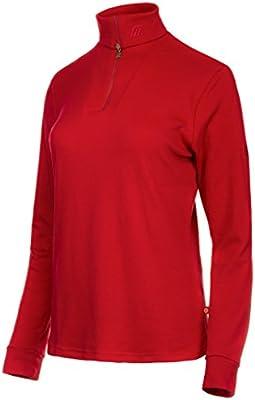 Medico – Camiseta de esquí para Mujer, 100% algodón, Manga Larga, Cremallera, Color Ferrari Red, tamaño 42: Amazon.es: Deportes y aire libre