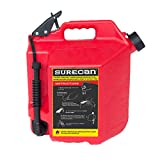Surecan CRSUR5G1 Gasoline CAN, 5.0 Gallon, Red