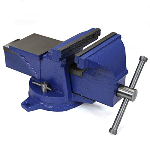"Stark 8"" Swivel Tabletop Bench Vise Mechanics Clamp Vise Metal Milling Locking 360-Degree Swivel Work Bench Base"