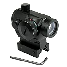 RioRand tactical Reflex Red Green Dot Sight Scope w/ Dual High / Low Profile Rail Mounts