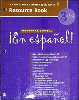 Book En Espanol 3 Etapa Preliminar and Unit 1 Resource Book