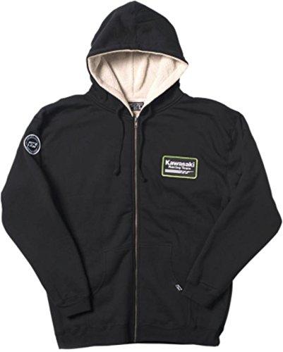 Factory Effex Hooded Sherpa Sweatshirt (Kawasaki, Medium) 2088122