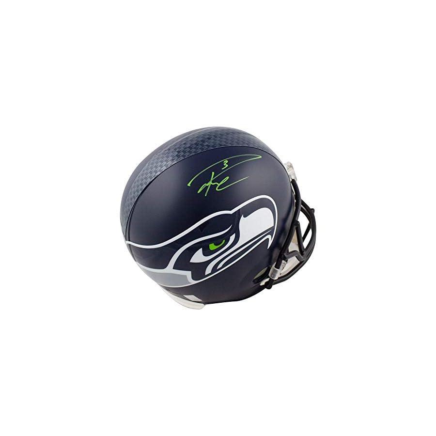 Russell Wilson Autographed Seahawks Full Size Football Helmet RW Hologram