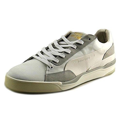 Puma Men's MCQ Move Lo Lace Up Ankle-High Leather Fashion Sneaker, Wht White-Whisper White, 42 EU/8 UK