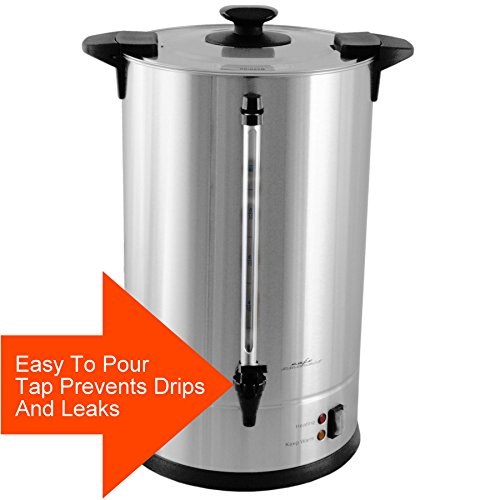 Cafe Amoroso 100 Cup Stainless Steel Coffee Urn - Premium Commercial Double Wall Design - Perfect For Catering, Churches, Banquets, Restaurants - 1 Year Warranty by Cafe Amoroso (Image #4)
