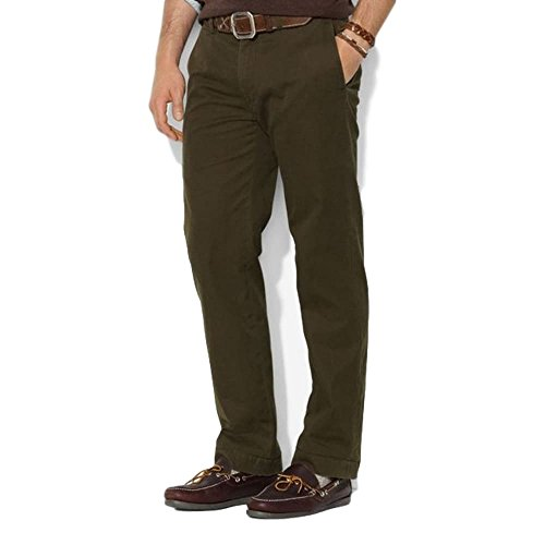 - Polo Ralph Lauren Mens Bedford Slim Fit Classic Twill Chino Pants Green 32/32