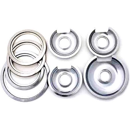 Range Kleen Chrome Kitchen GE and Hotpoint Drip Pans 8pc