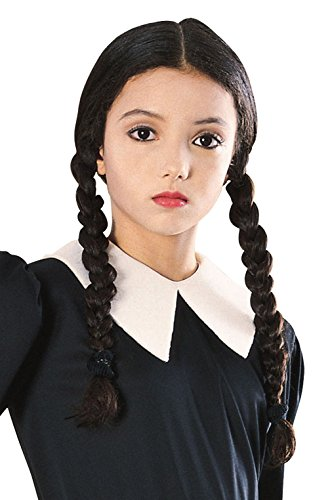 [Mememall Fashion Wednesday Addams Family Child Costume Wig] (The Addams Family Wednesday Costumes)