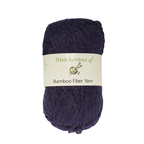 BambooMN Brand - Indigo Thick Thin Bamboo Fiber Wool Yarn - 100g/Skein - 2 Skeins ()