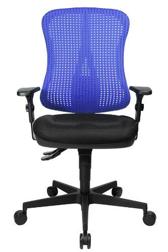 Muldensitz Netzr/ücken Schreibtischstuhl Stoffbezug aqua-blau inkl Topstar HE20PBC06 Head Point SY P4 Armlehnen ergonomischer B/ürostuhl
