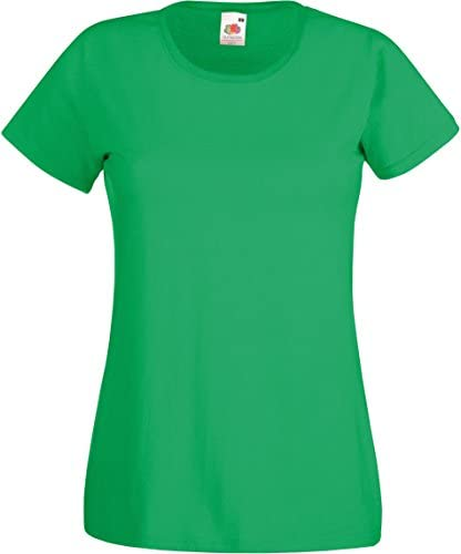 Fruit of The Loom T-Shirt damski Valuweight T Lady-Fit, kolor: zielony (Maigrün) , rozmiar: l: Odzież