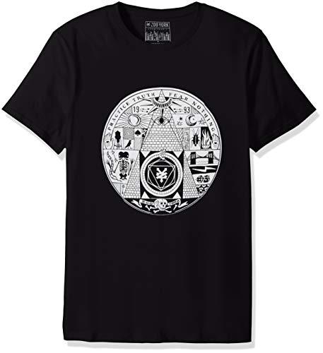 Zoo York Men's Short Sleeve Crew Neck Shirt, voodoos Black Medium