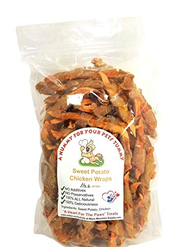 Chicken Wrapped Sweet Potato Dog Treats Made In Idaho