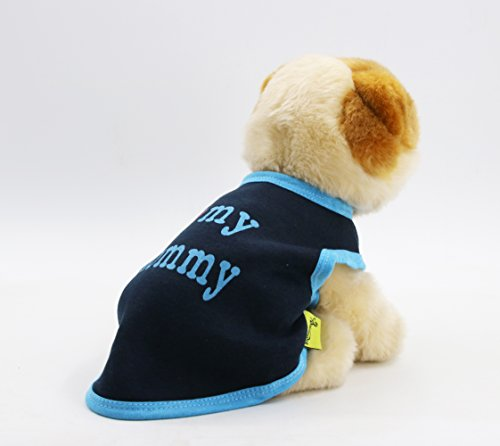 [DroolingDog Pet Clothes I LOVE MY MOMMY Dog T-Shirt Soft Fleece Cotton Vest for Small Dogs, XS, Dark] (But Mommy Costumes)