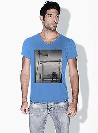 Creo Bus Station Skulls T-Shirts For Men - S, Blue