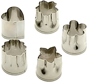 ATC 5 Pieces Stainless Steel Mini Cookie Cutters Set,Suitable for Create Cookies Fruits Vegetables in Various Shapes